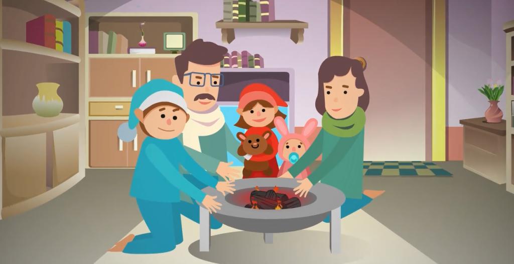消防器材视频课件动画-室内烤火缩略图