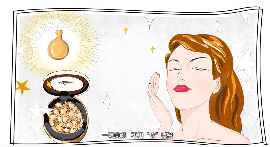 美容护肤产品介绍动画插图